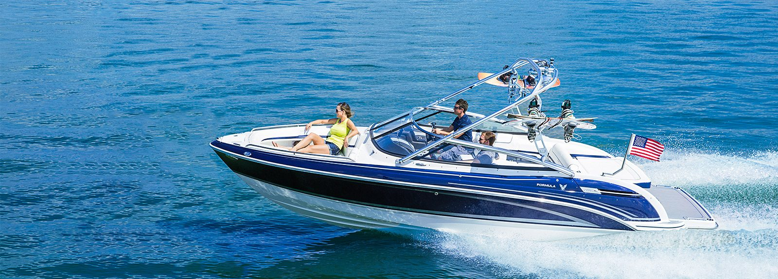 Water ski boat for wakeboard and much more